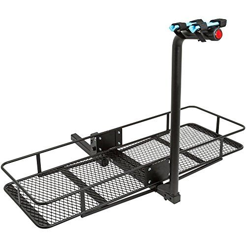 2 Bicycle 60 Folding Cargo Carrier Basket Rack Combo For 2 Hitches To View Further For This Item Cargo Carrier Bike Rack For Hitch Hitch Cargo Carrier