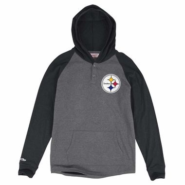 1ee071819 Pittsburgh Steelers Mitchell   Ness Home Stretch Long Sleeve Hooded Shirt