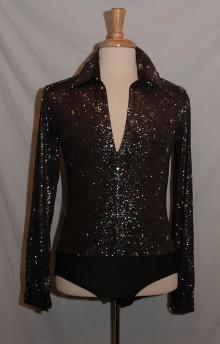 Mens Long Sleeve Salsa Jazz Latin Dance T-shirt Bodysuit Top Shirt Dancewear