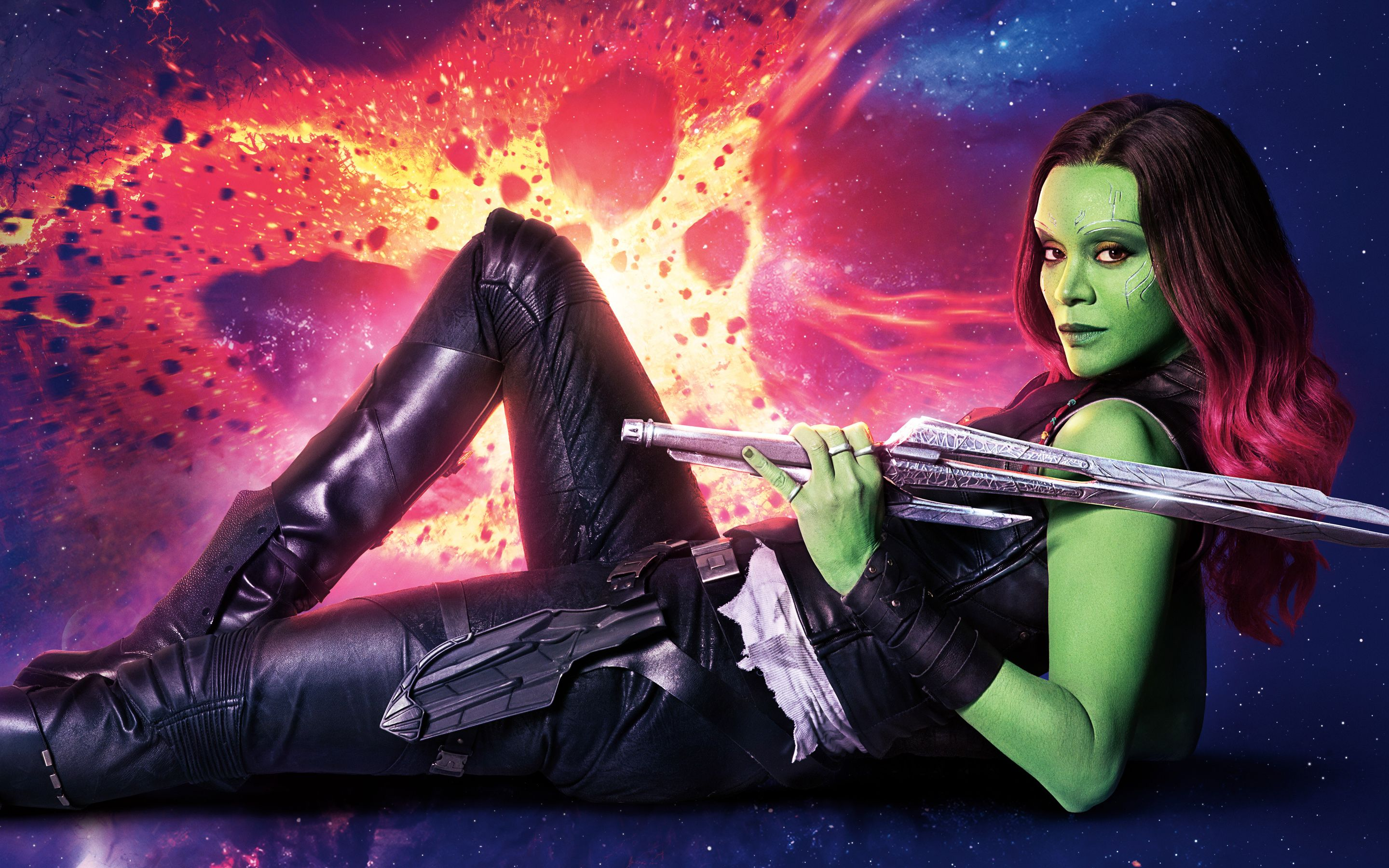 Gamora Guardians of the Galaxy Vol 2 4K 8K - This HD Gamora Guardians of the… wallpaper is based on Guardians of the Galaxy Vol. 2 Movie. It released on N/A and starring Chris Pratt, Karen Gillan, Vin Diesel, Sylvester Stallone. The storyline of this Action, Adventure, Sci-Fi Movie is about: Set to the backdrop of Awesome Mixtape #2,... - http://muviwallpapers.com/gamora-guardians-galaxy-vol-2-4k-8k.html #Gamora, #Guardians #Movies