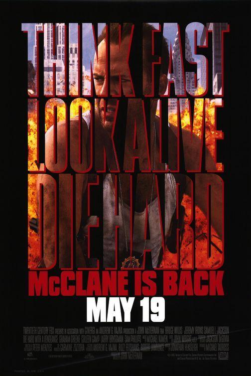 Die Hard With A Vengeance Movie Poster Movie Posters Hard Movie Die Hard
