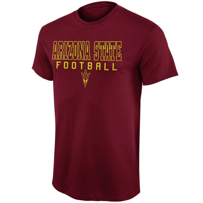 Arizona state sun devils frame football tshirt maroon