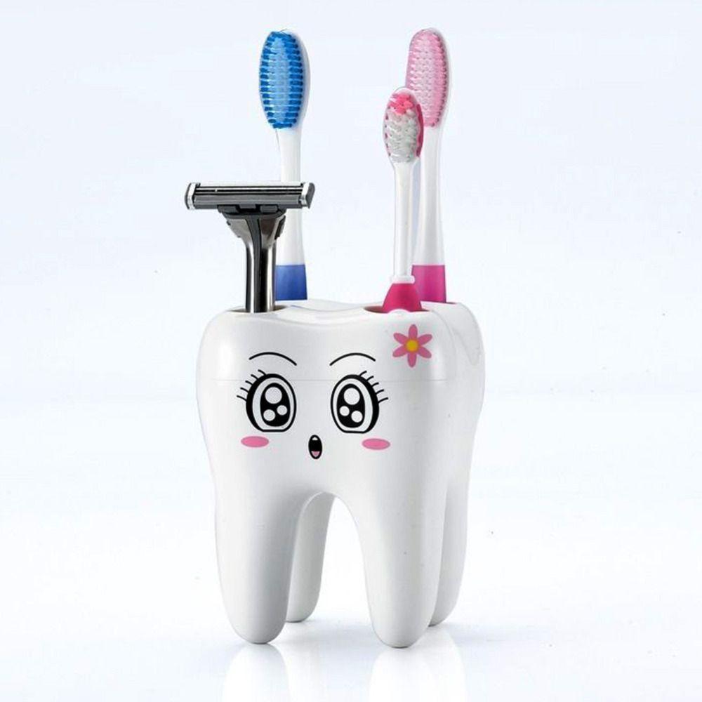 Cartoon Toothbrush Holder 4 Hole Style Toothbrush Stand Shelf Brush ...