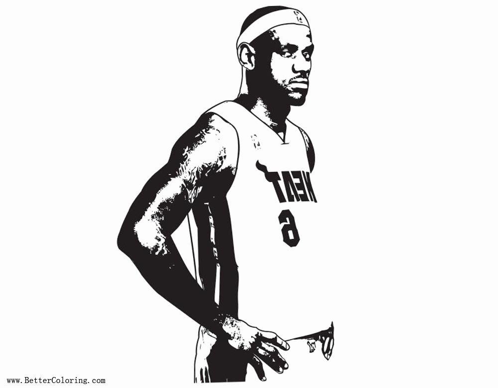 Lebron James Coloring Page Best Of Basketball Players Coloring Page Le Bron James Printable Halloweenfile Lebron James Coloring Pages Baseball Coloring Pages