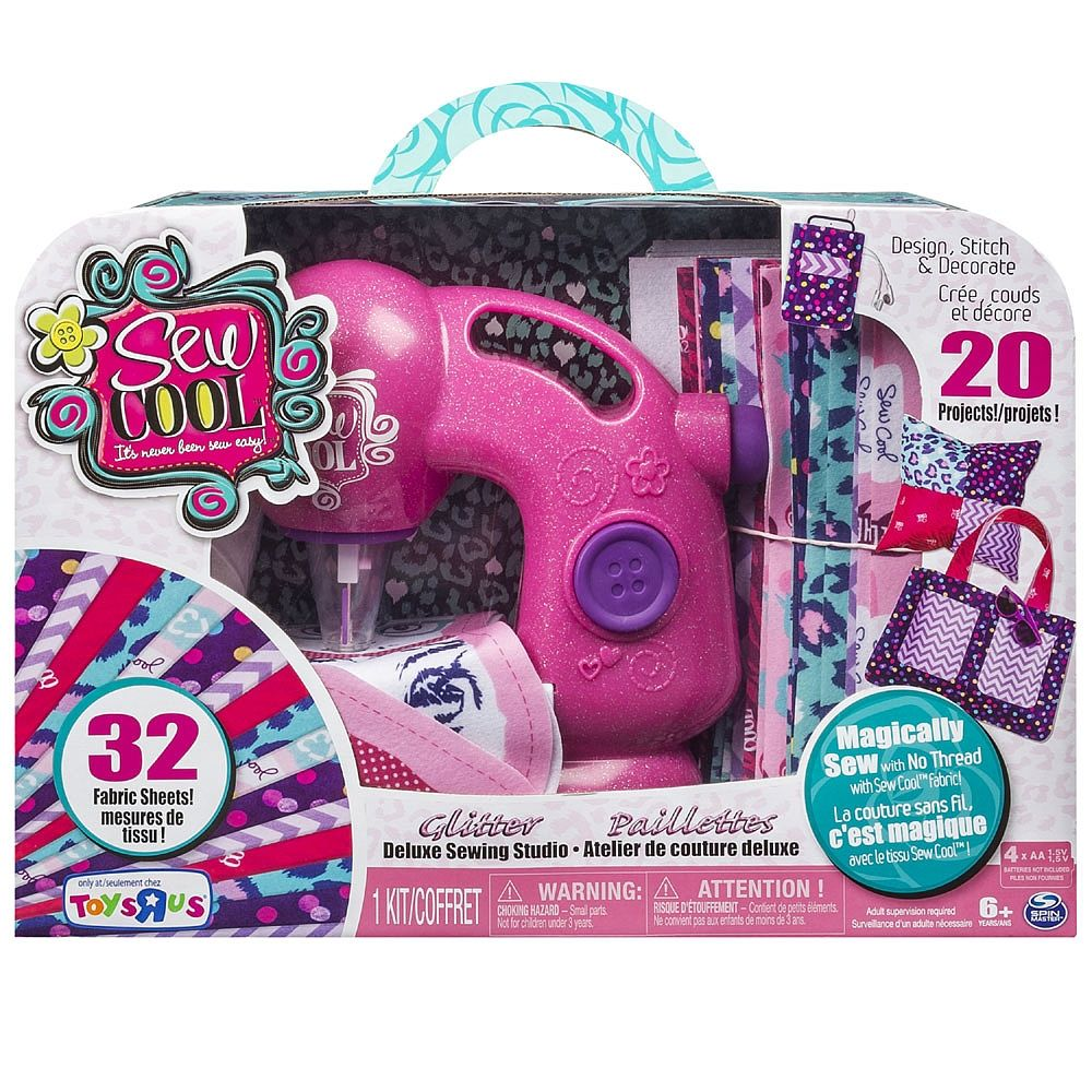 Cool Toys From Toys R Us : Sew cool deluxe glitter sewing machine spin master