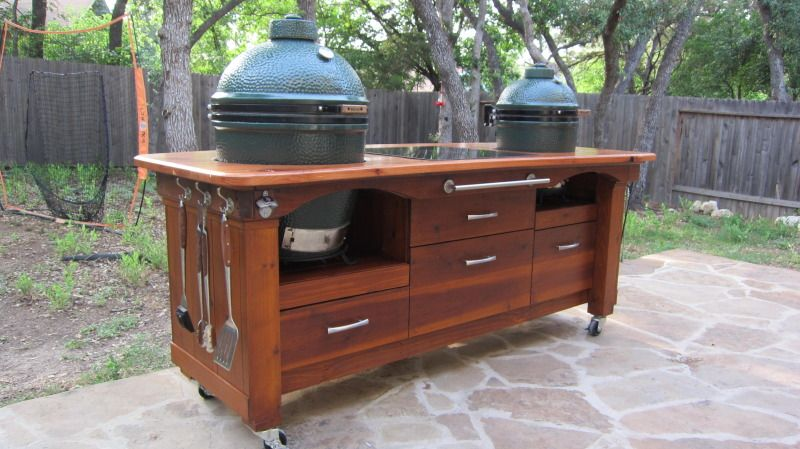 My Table Is Finally Home And Egged! (lots Of Pics)   Big Green Egg    EGGhead Forum   The Ultimate Cooking Experience.