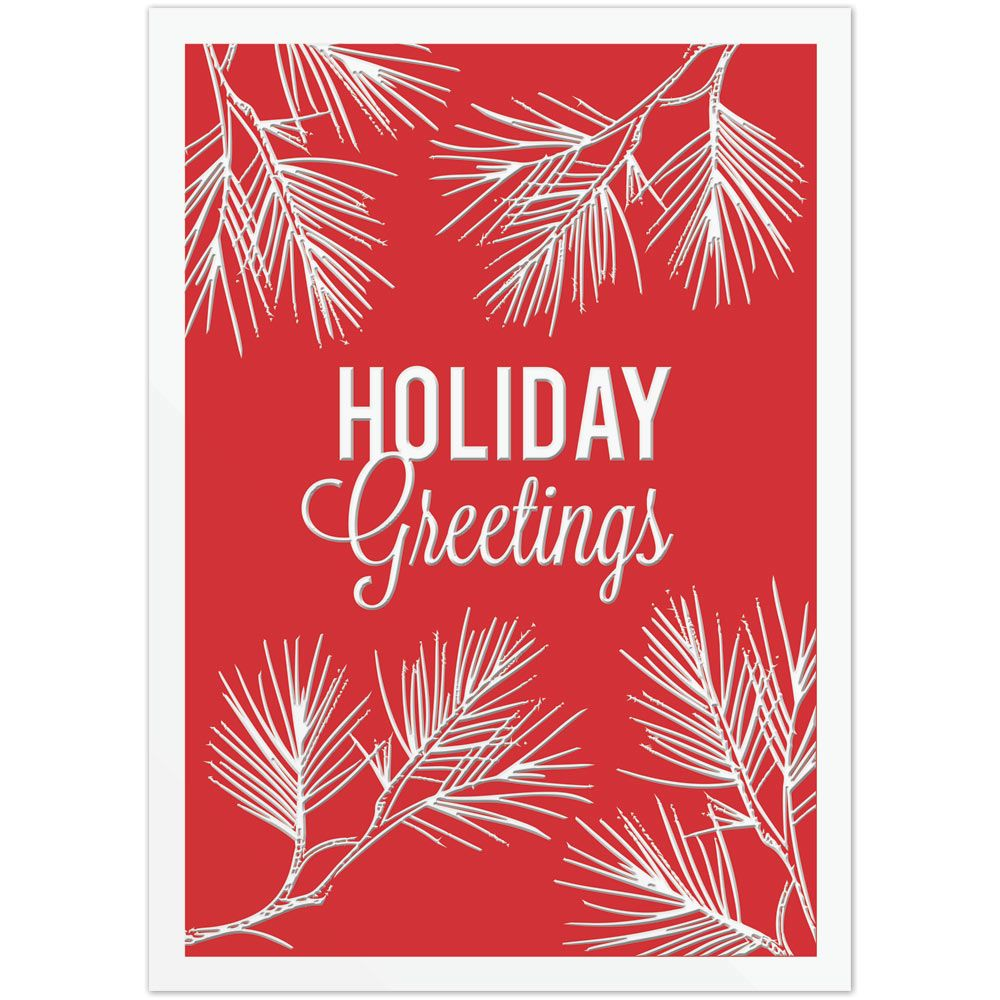 Embossed Business Christmas Card | On The Ball Promotions | Business ...
