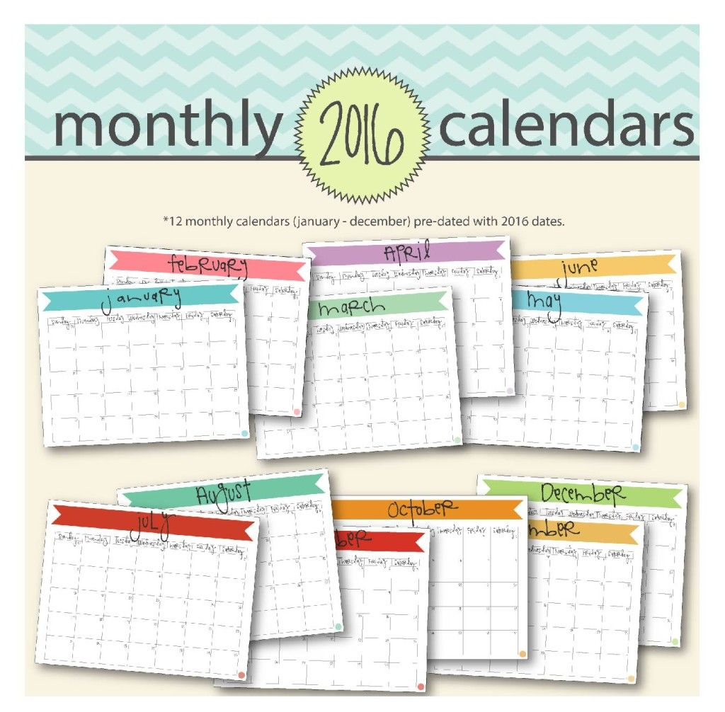 january 2016 calendar free printable banners and etsy
