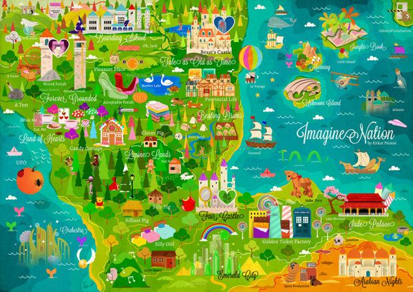 Maps of the Worlds 2012 by Kitkat Pecson, via Behance