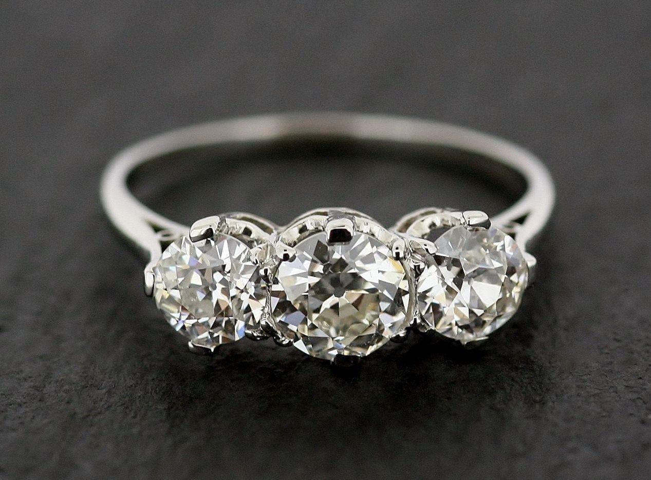 Antique Diamond Engagement Ring Three Stone by AlistirWoodTait, £9,995.00