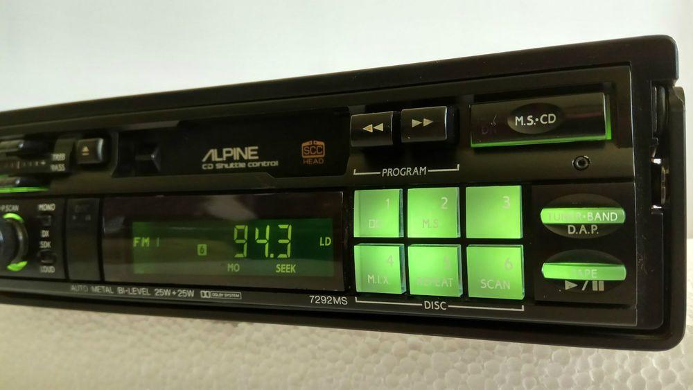 Alpine 7292ms retro old school amfm cassette tape pullout
