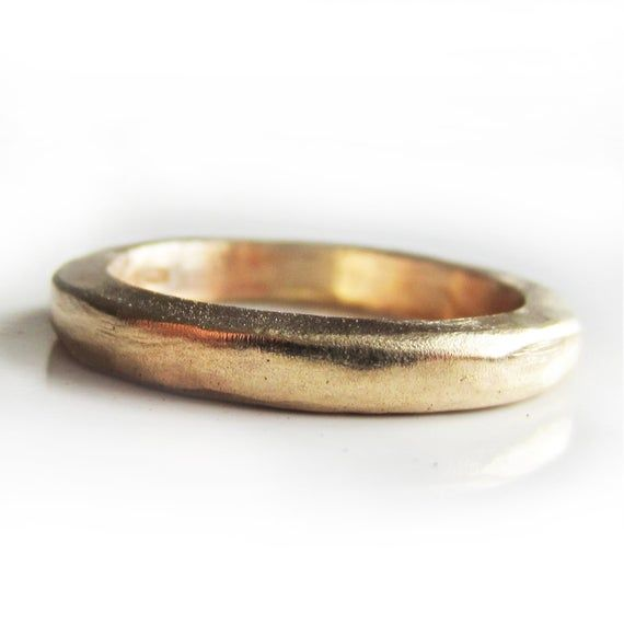 Thick Gold wedding ring in solid 22 Karat yellow gold - 22ct solid gold wedding