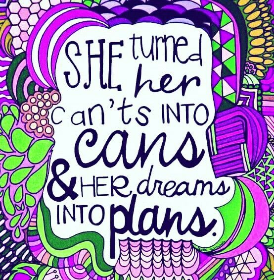 """She Turned her Can'ts Into Cans & Her Dreams Into Plans."" What is your Dream? What's your Plan?  #ThoughtfulThursday #BeUnstoppable #OvercomeFailure #DreamsIntoReality #KeepYourHeadUp #BePositive  #BeFearless #BeTheChange #BeABlessing #MoveForward #BetterYourself #BetterYou #NowIsTheTime #Change #MotivationalQuote #Quote #InspirationalQuote #Succeed #BeYourOwnBoss #WorkFromHome #BelieveInYourself #ThinkSocial #PeaceLoveJams #BossBabe #JamberryNails @jamberrynails"