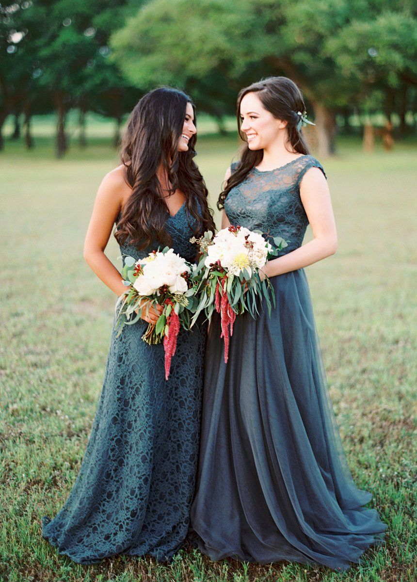 Emerald green lace and chiffon long morilee by madeline gardner
