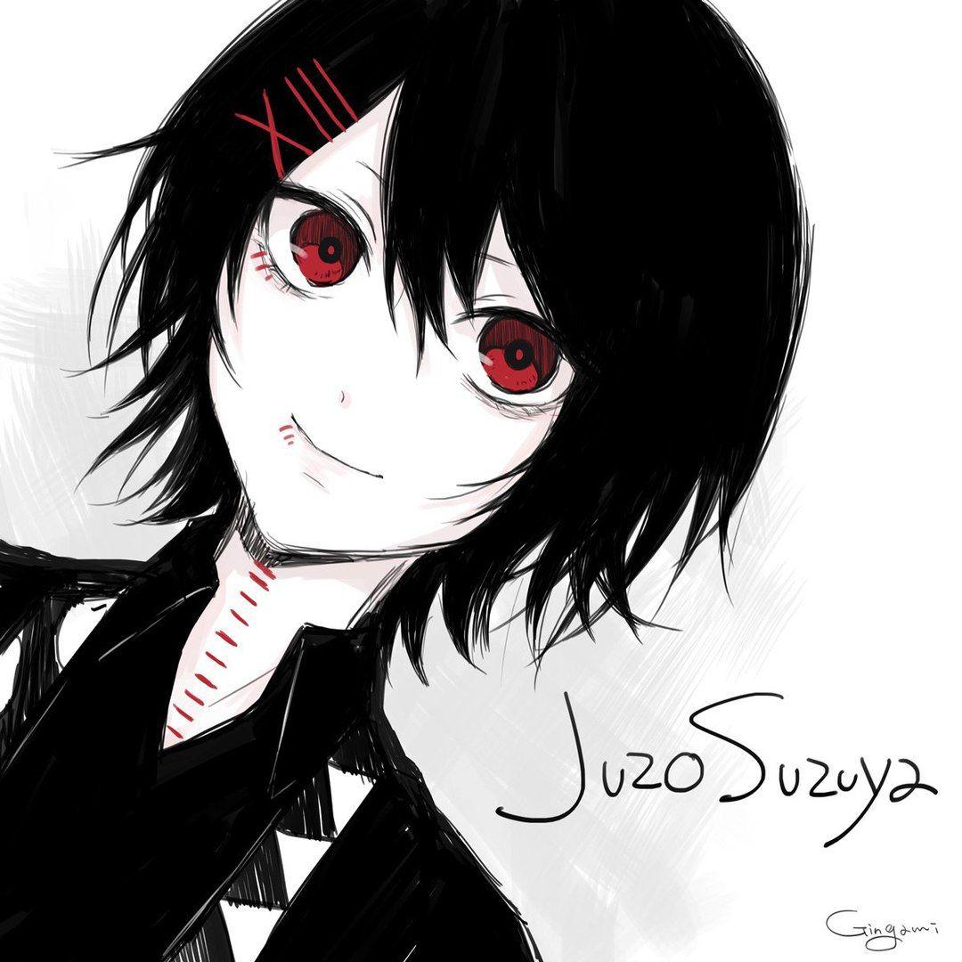 Juuzou suzuya black haired daraensuzu manga boy anime boys juuzou suzuya tokyo