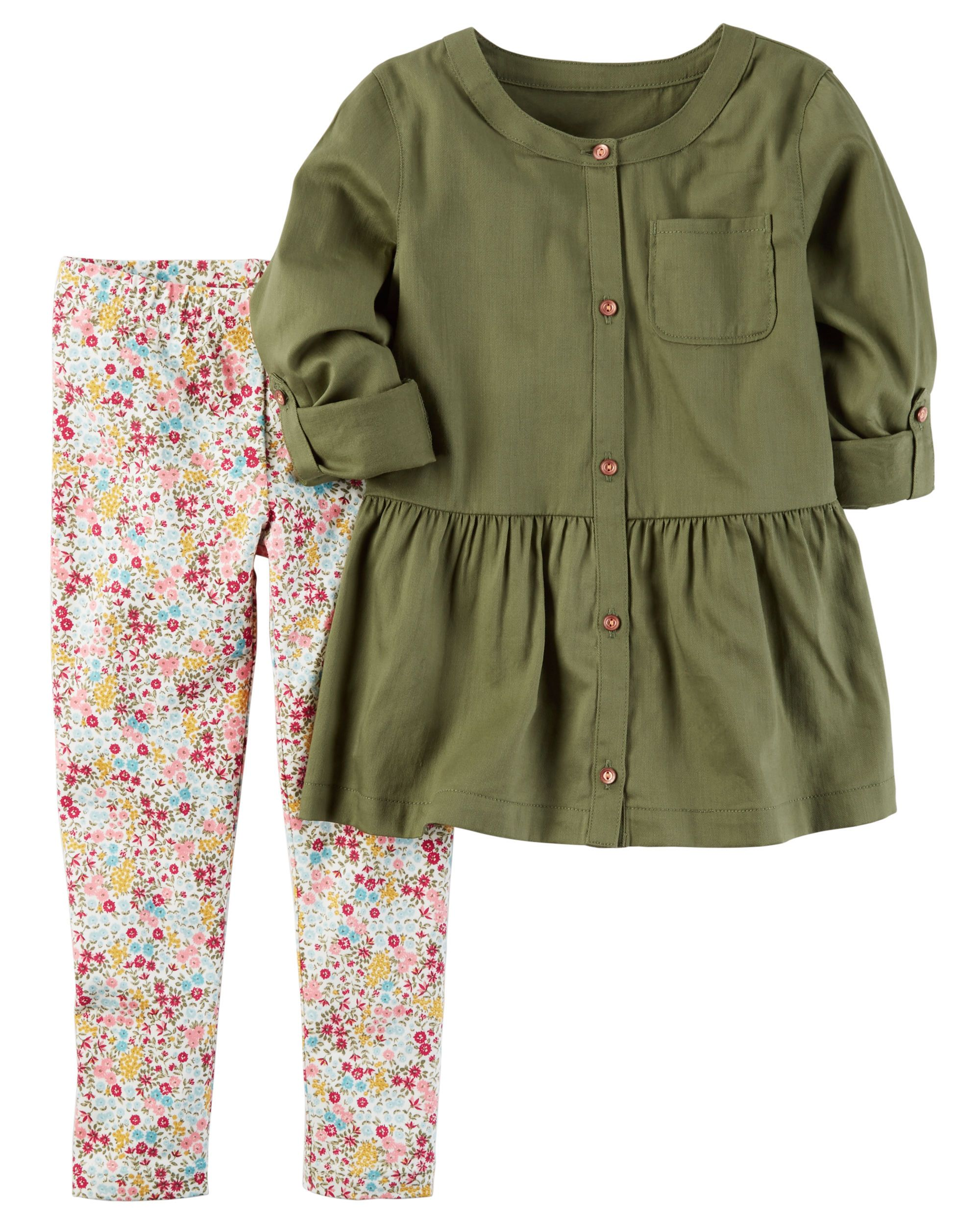 Piece peplum tunic u legging set babies clothes toddler girls