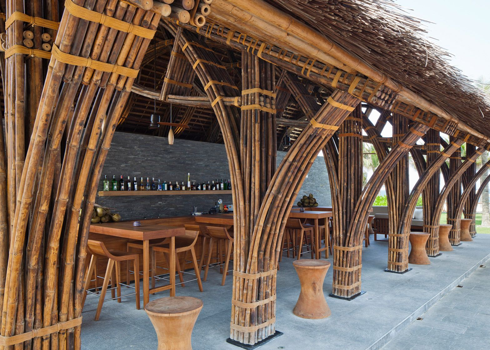 vo trong nghia adds bamboo restaurant and bar to naman spa