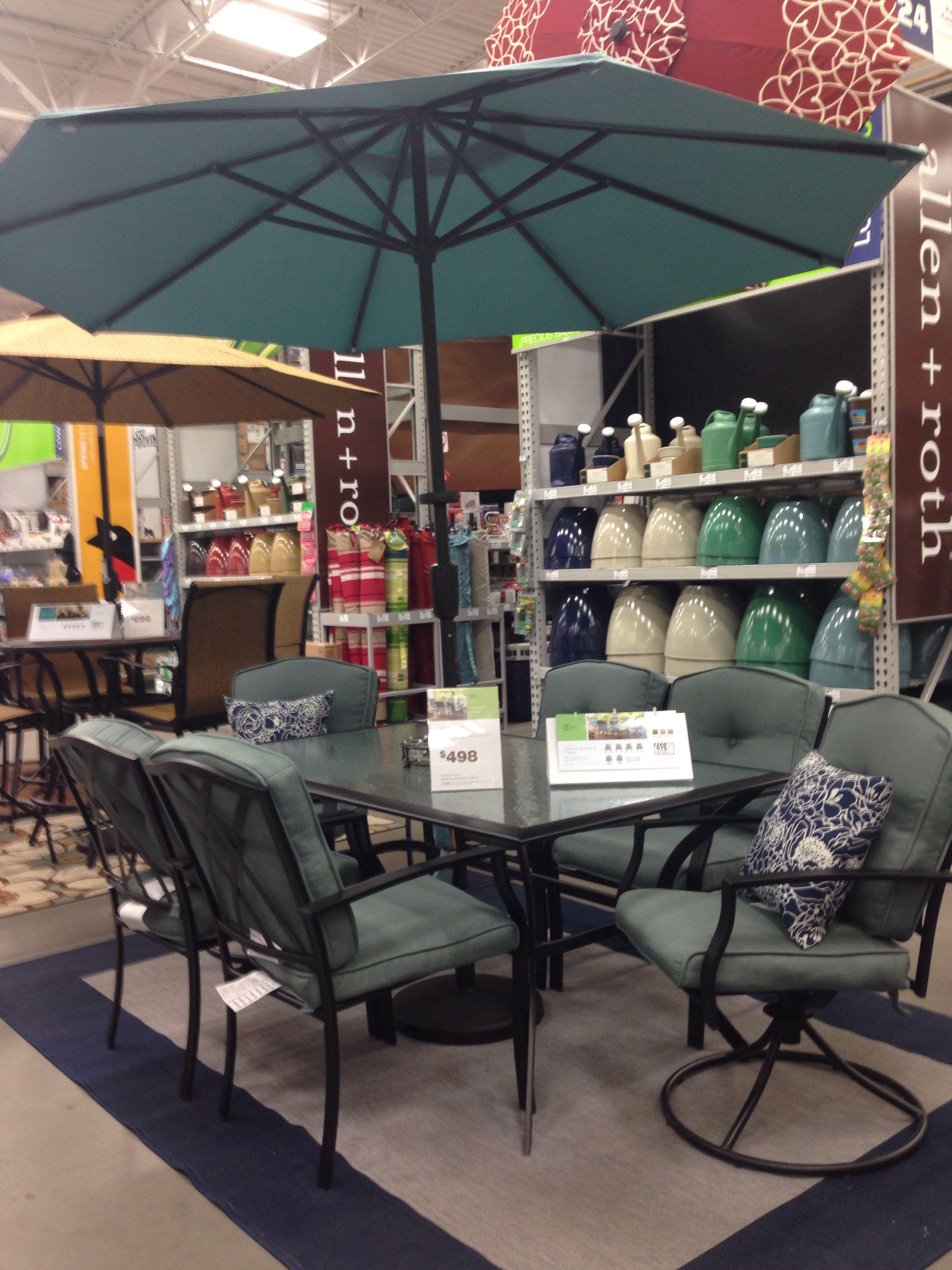 Lowe S Garden Treasures Patio Dining Set Diy Outdoor Furniture