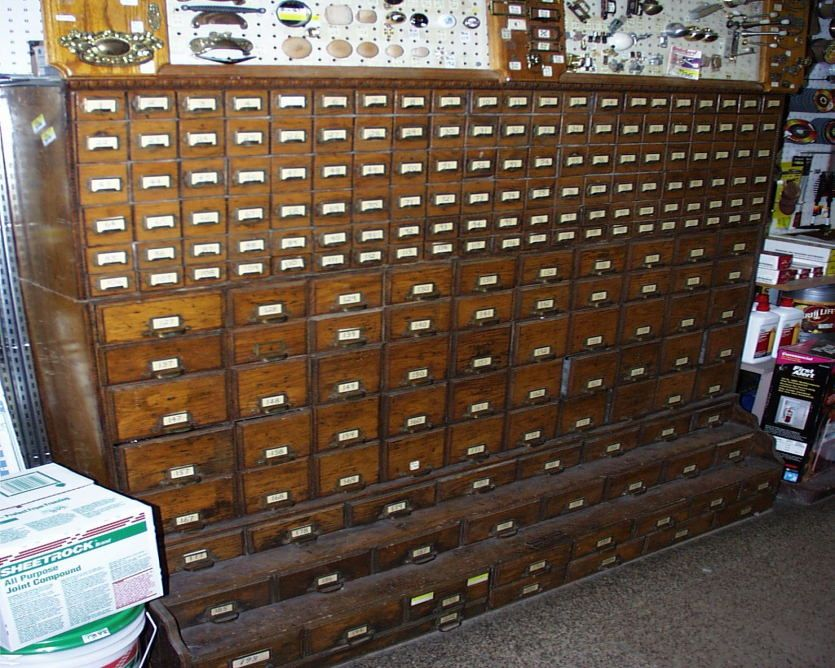 Antique Hardware Cabinet Store Display 1900s 514 Drawers- this thing is  amazing, so many drawers for stuff. | DIY- INSPIRATION- DISPLAYS |  Pinterest ... - Antique Hardware Cabinet Store Display 1900s 514 Drawers- This Thing