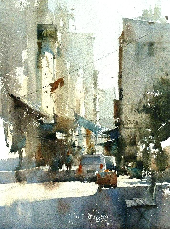 Chien Chung Wei S Watercolor Demo At Workshop In Istanbul