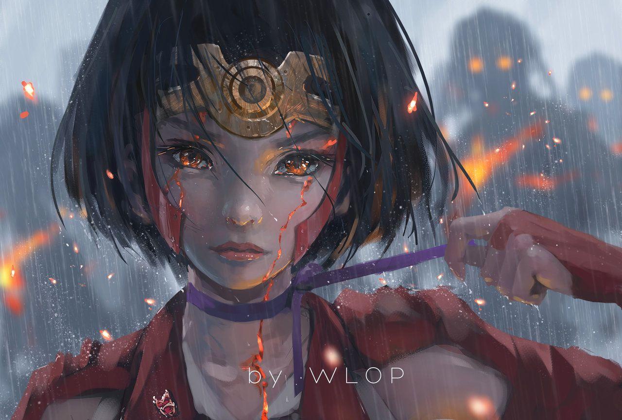 Wang Ling Wlop Mumei Iron Fortress Warrior Girl Anime Art Girl