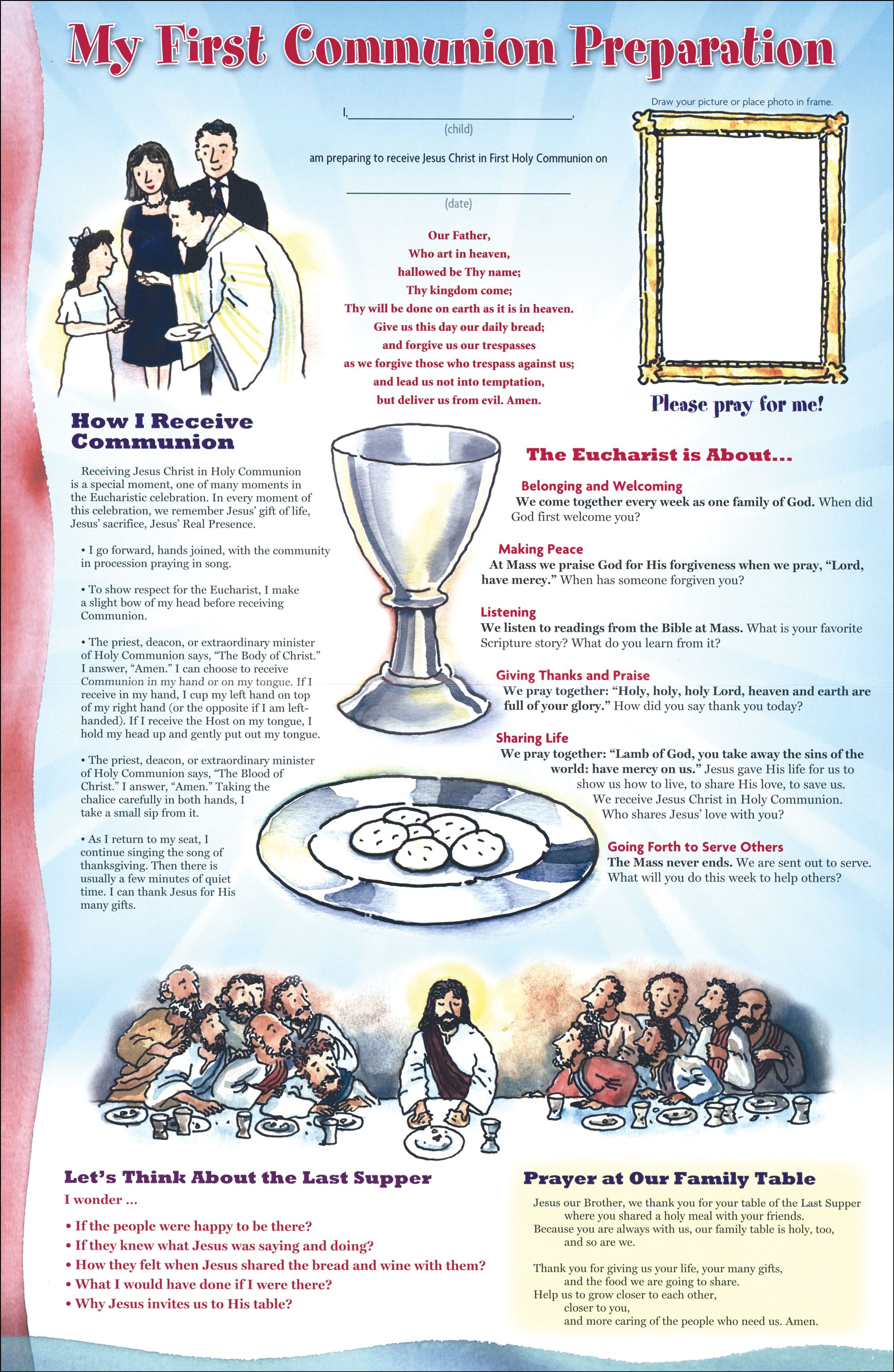 First Communion Family Poster 10 Pack