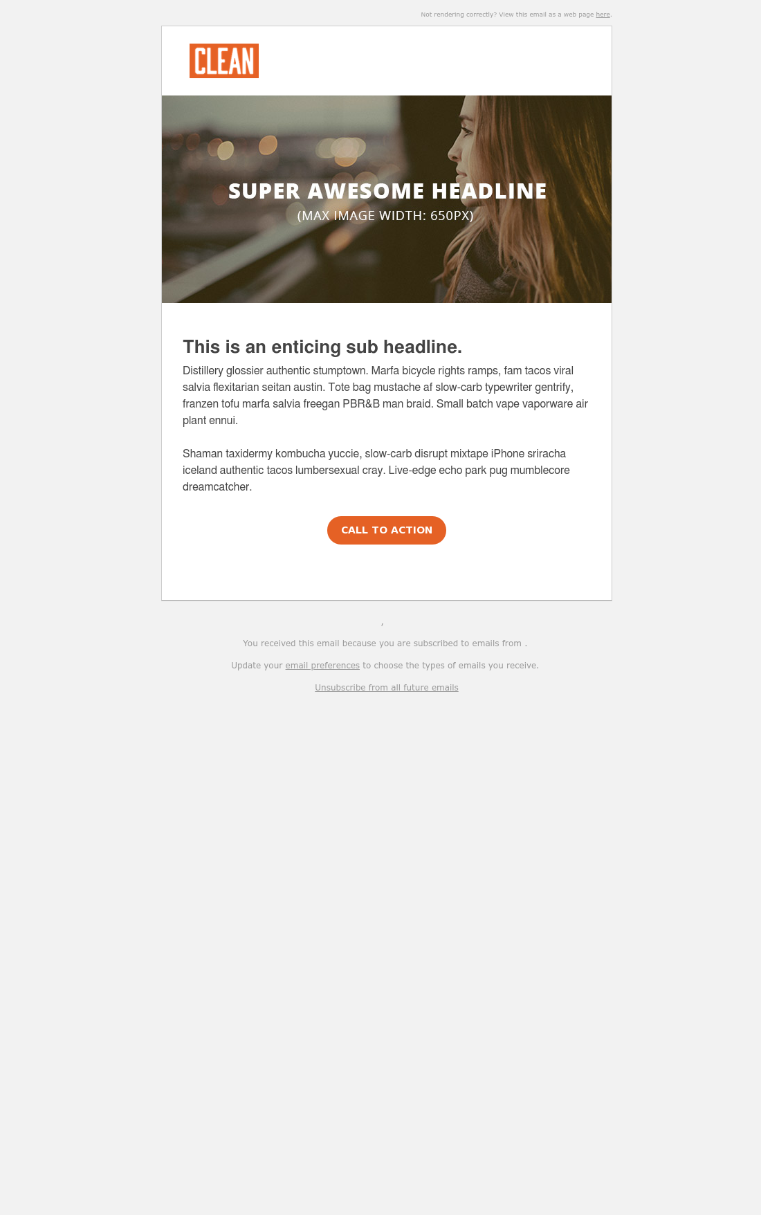 CLEAN 4 Simple Email Template Opt 3 HubSpot Simple