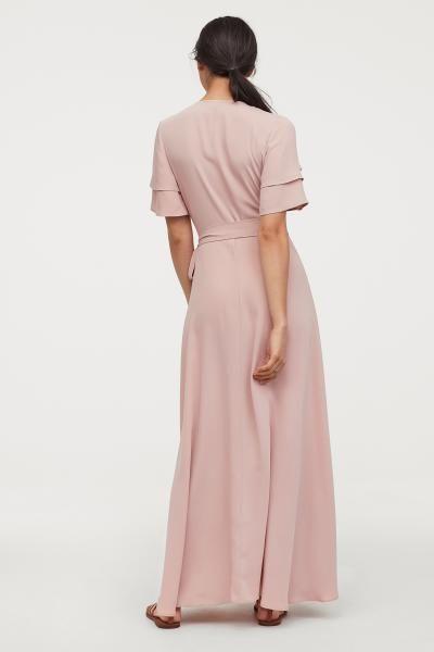 Wickelkleid | Wickelkleid, Puder rosa und Lange kleider