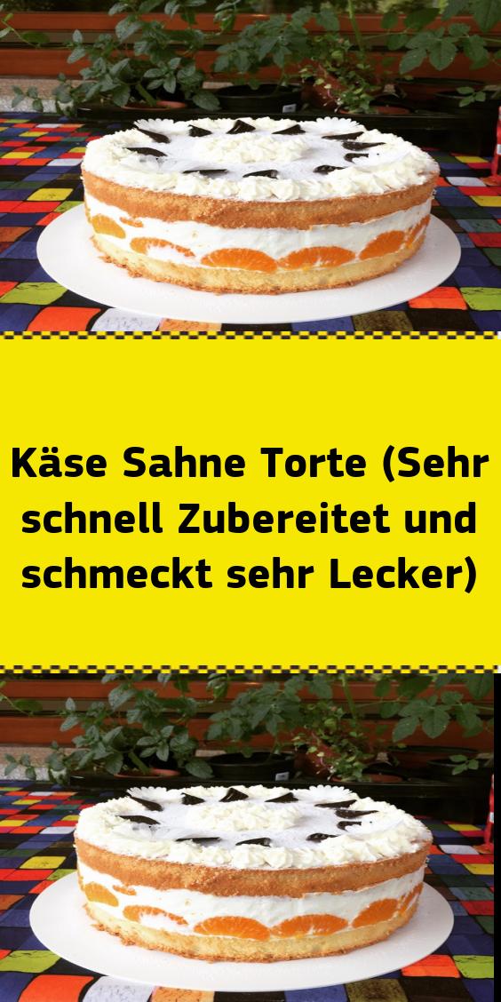 Kase Sahne Torte Sehr Schnell Zubereitet Und Schmeckt Sehr Lecker Lecker Kuchen Und Torten Kuchen Ohne Backen