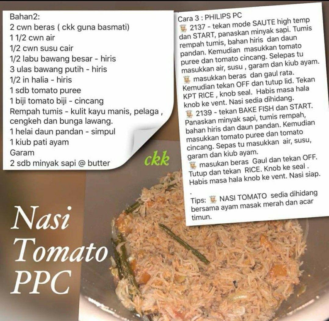 Resepi Nasi Tomato Rozzan Pawtaste Com