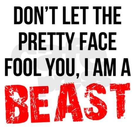 facd385879e208 I AM A BEAST Racerback Tank Top on CafePress.com