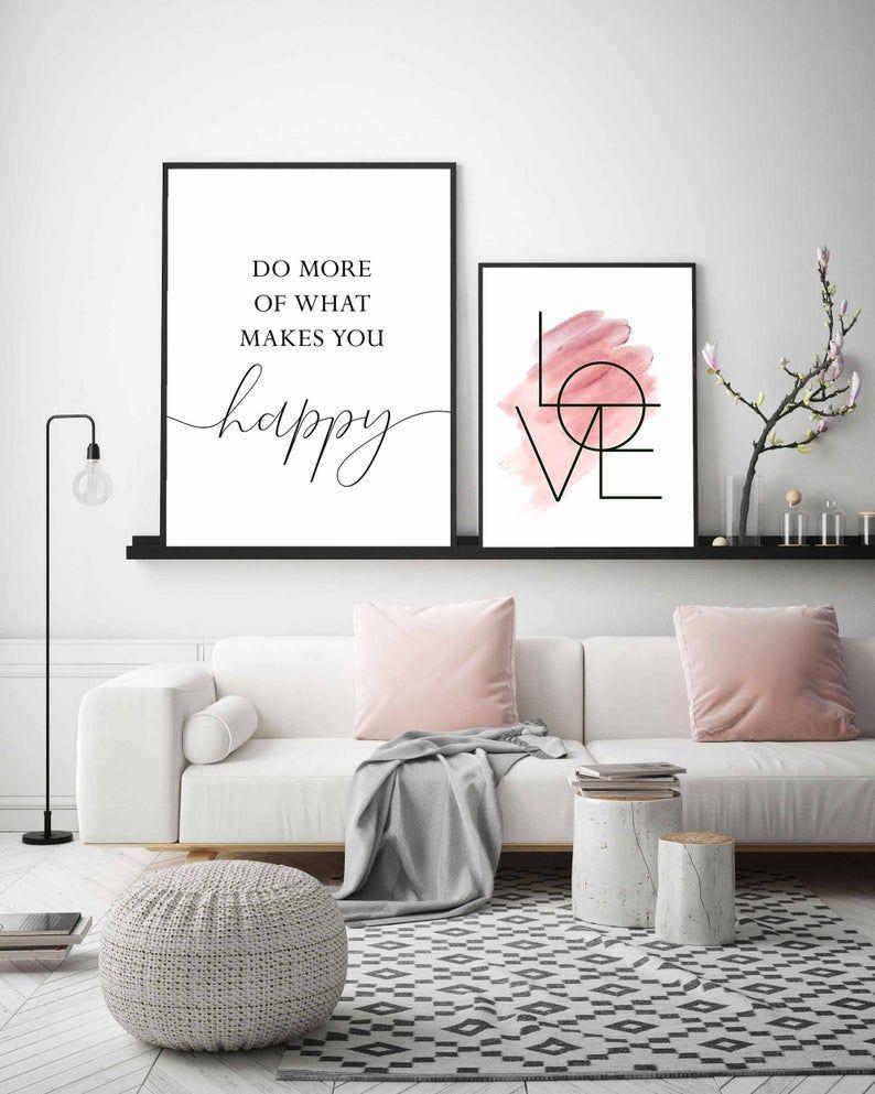 Blush Pink Wall Artset Of 3 Printsbedroom Wall Artgirls Etsy In 2020 Girls Room Wall Art Pink Wall Decor Pink Walls