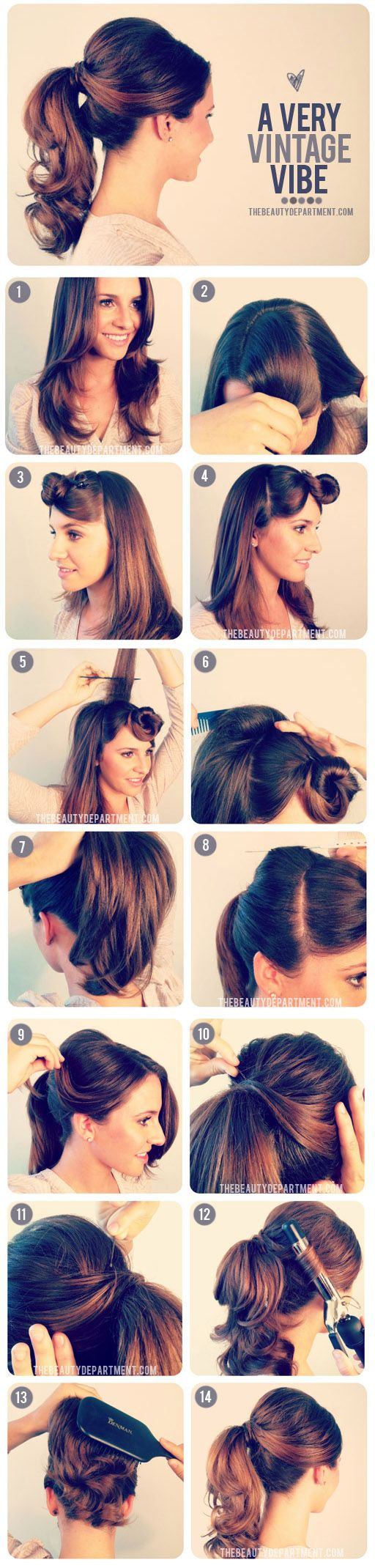 Retro pinup ponytail #1950s #1960s #hairstyle