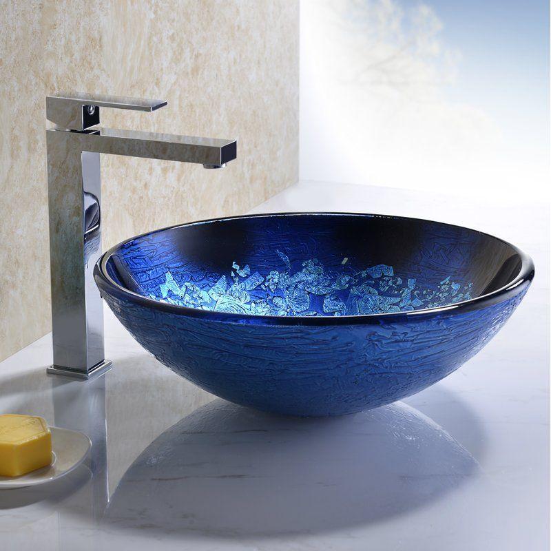 Stellar Series Glass Circular Vessel Bathroom Sink With Images