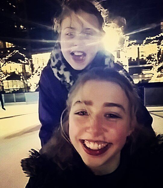 #iceskating with sis  #canarywharf by will0w_r0se
