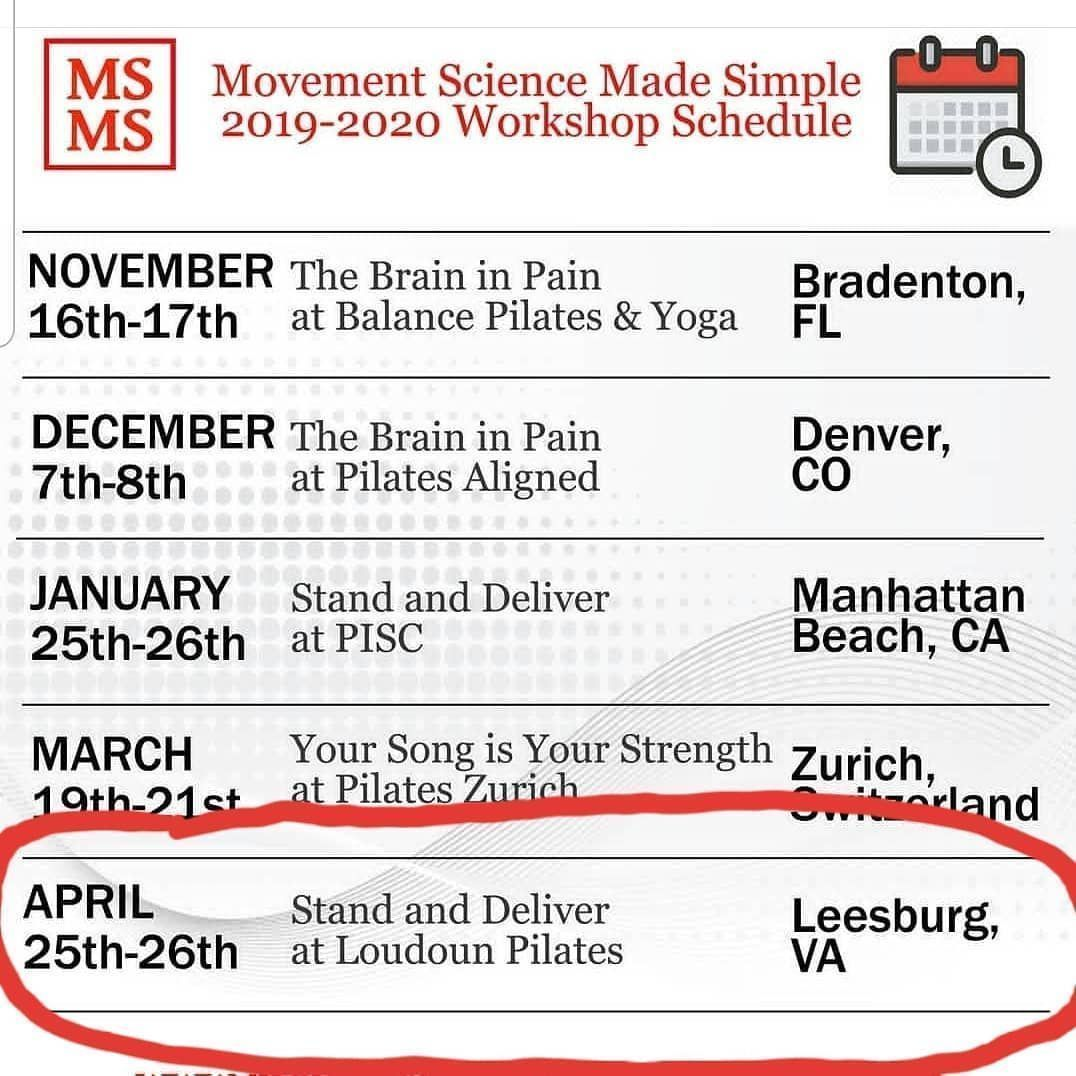 pilates courses #pilatescourses Save the date!!! Cara and Jeremy are BACK IN 2020 with their @mvmt_sci lower extremity course! April 25-26th! Who else is excited?!?! . . . #pilates #loudounpilates #strength #movement #health #fitness #pilatesstudio #pilatesworkshop #pilatescommunity #leesburg #loudoun #loudouncounty #pilatescourses Save the date!!! Cara and Jeremy are BACK IN 2020 with their @mvmt_sci lower extremity course! April 25-26th! Who else is excited?!?! . . . #pilates #loudou