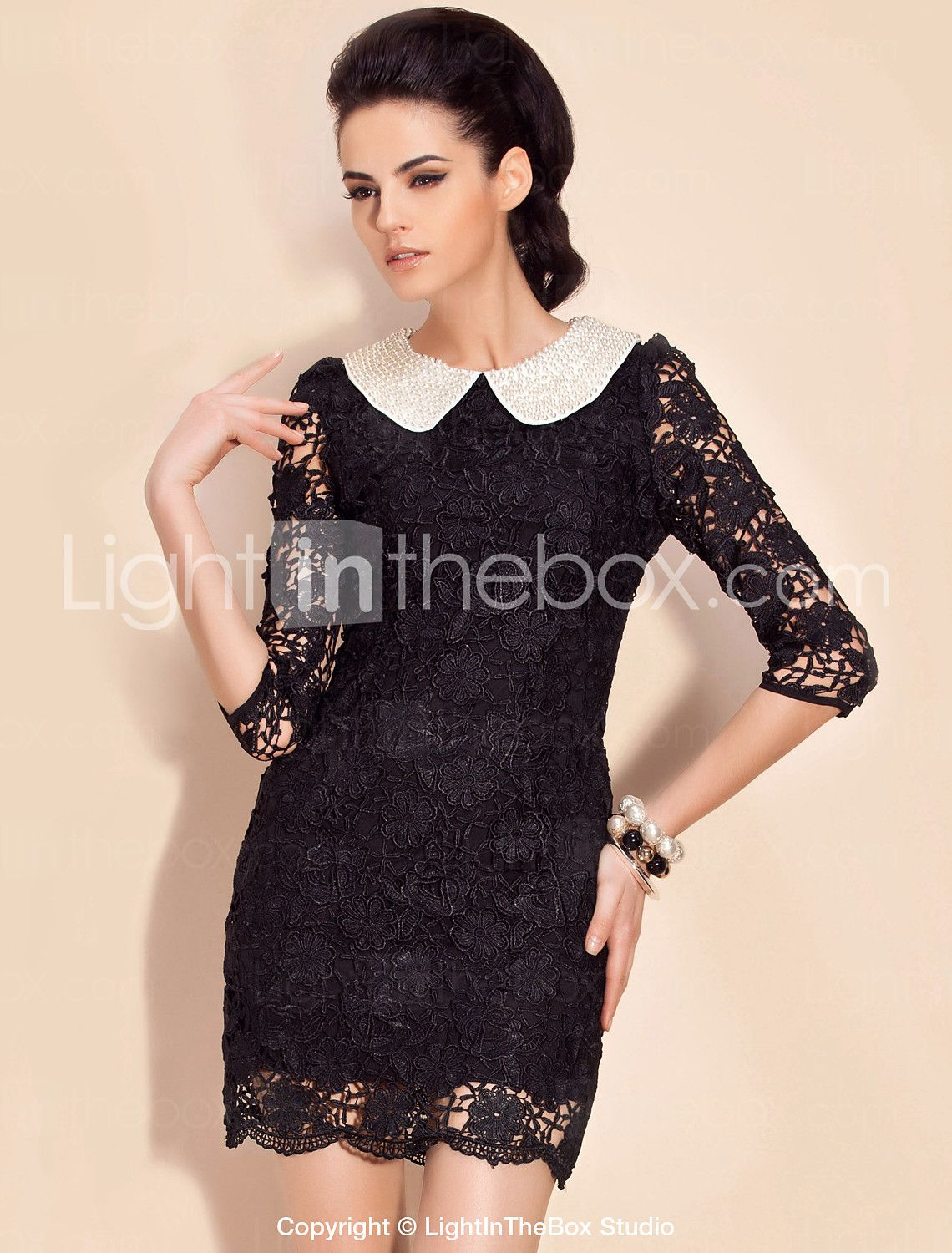 Ts pearl embellished lace dress more colors lace dress pearls