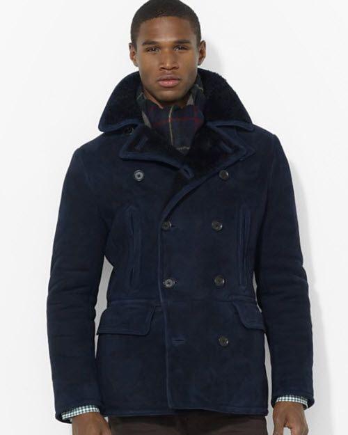 c3d2cbea8c8 Polo Ralph Lauren Shearling Pea Coat