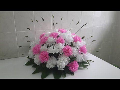 Wedding decor paper carnation flower arrangement youtube paper wedding decor paper carnation flower arrangement youtube mightylinksfo