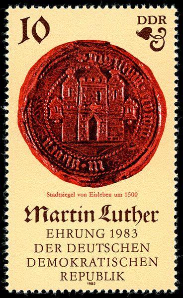 500 Geburtstag Von Martin Luther I Stadtsiegel Von Eisleben