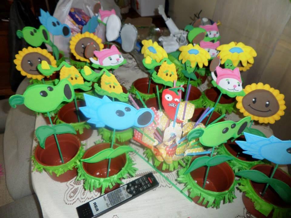 cajas sorpresa cumpleaños plantas vs zombies