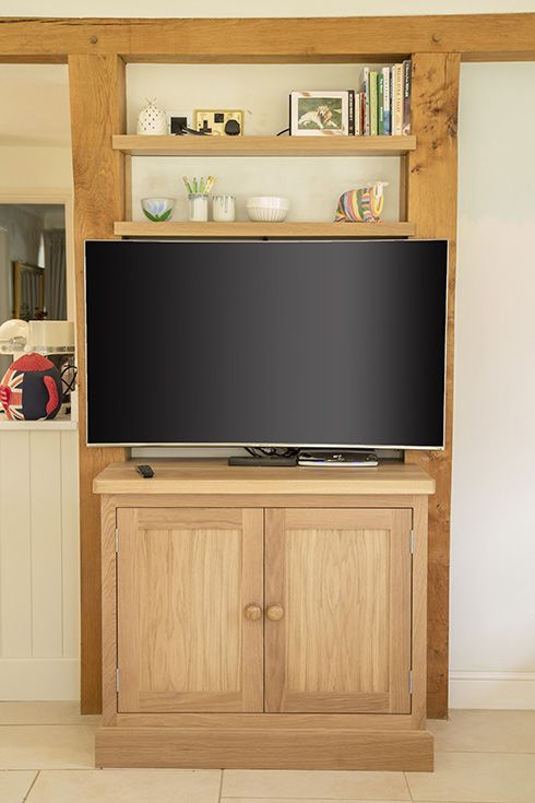 Free standing furniture television cabinet. www.benchwood ...