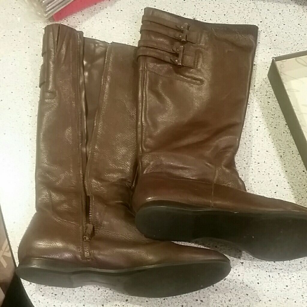 Enzo angiolini tall size 12 leather boots  5ea81bbd73d2
