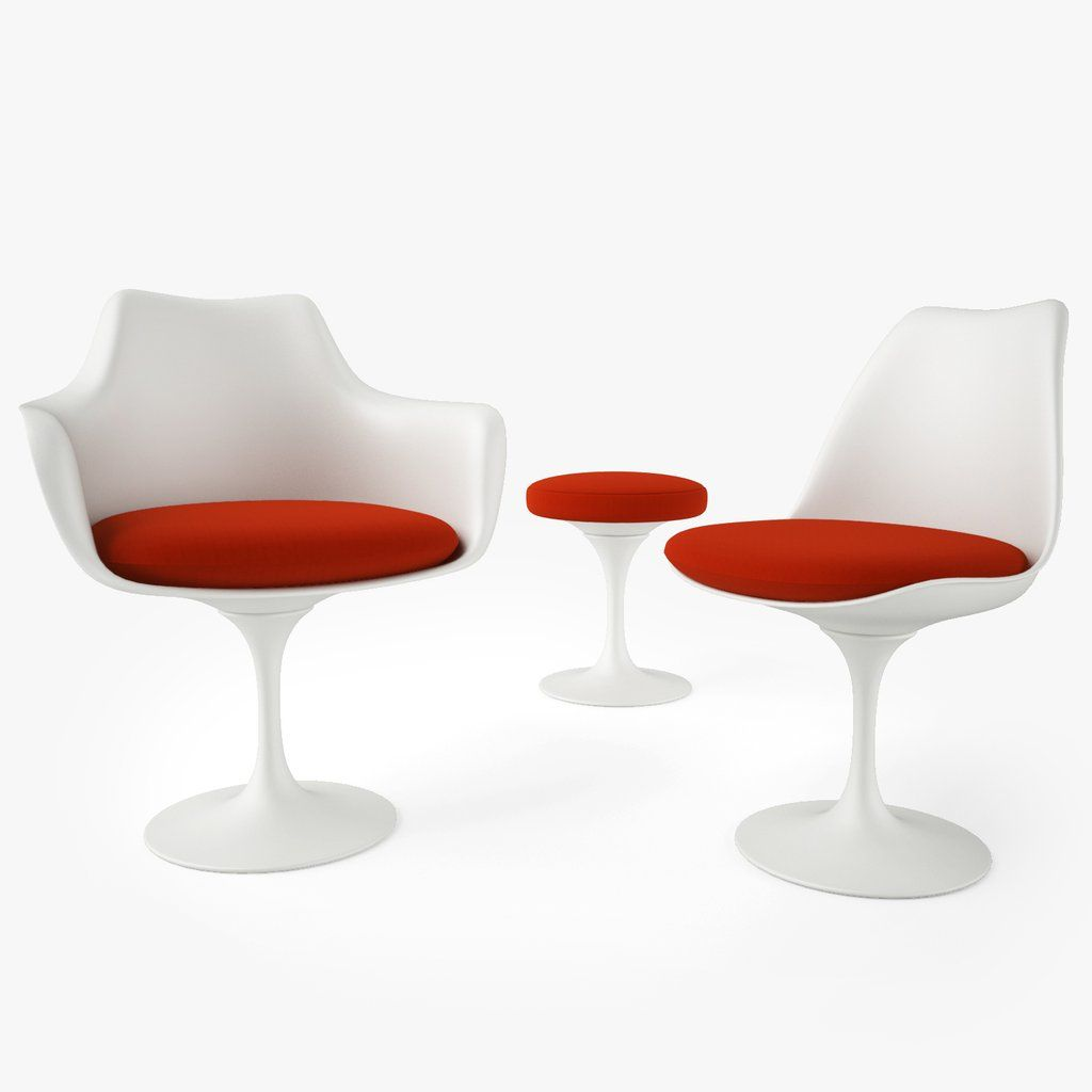 Free knoll tulip chair and armchair 3d model with images