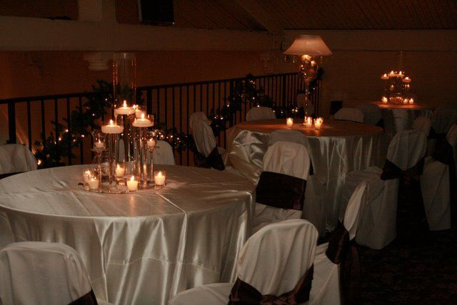 Candle centerpiece and lamp centerpiece...I'm scared!