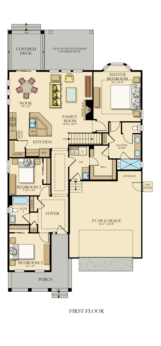 Oxford New Home Plan In Stonewater New House Plans House Plans Small House Plans