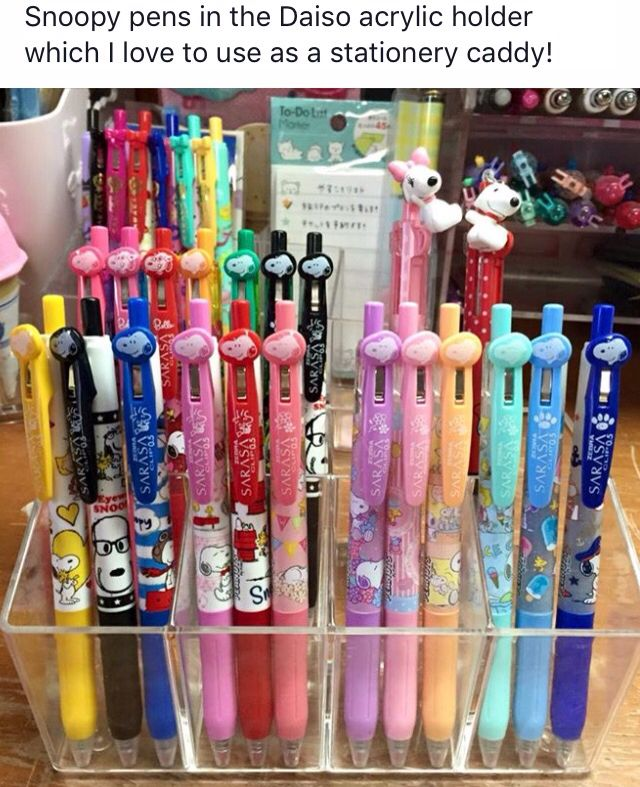 Stationary Stand Daiso Diy Calligraphy Cute Stationery