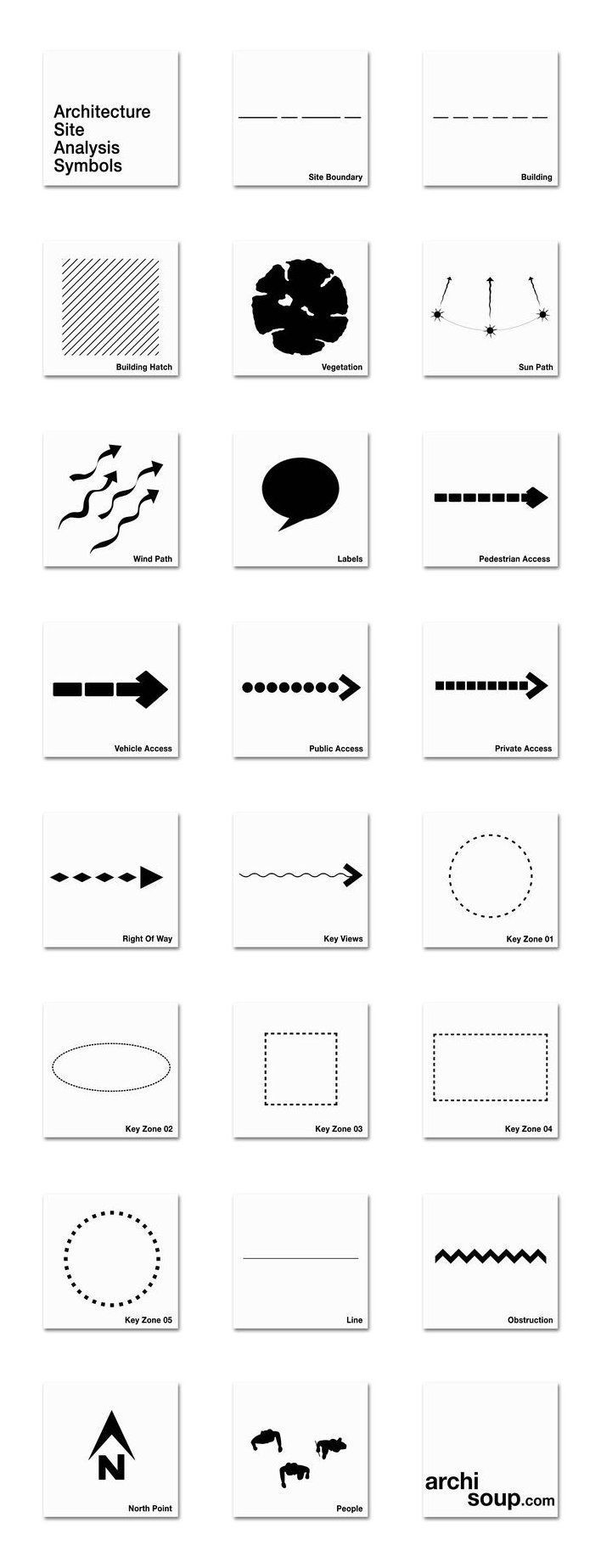 Architecture Site Analysis Diagrams And Symbols - One Of The - #architecture