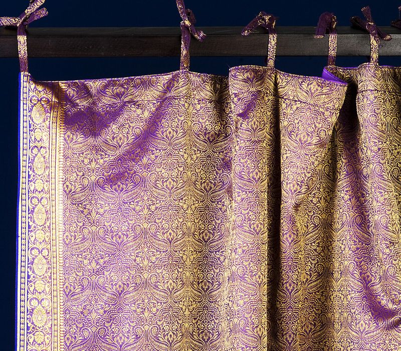 Lavender Paisley Sari Curtains