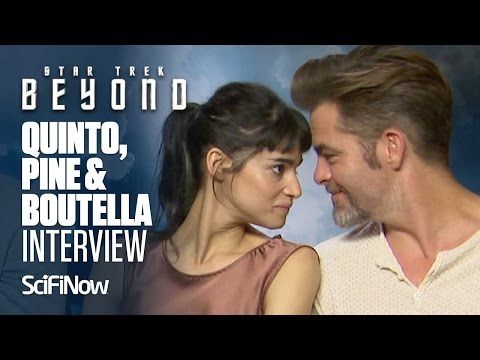 Star Trek Beyond | Zachary Quinto, Chris Pine, Sofia Boutella Interview - YouTube